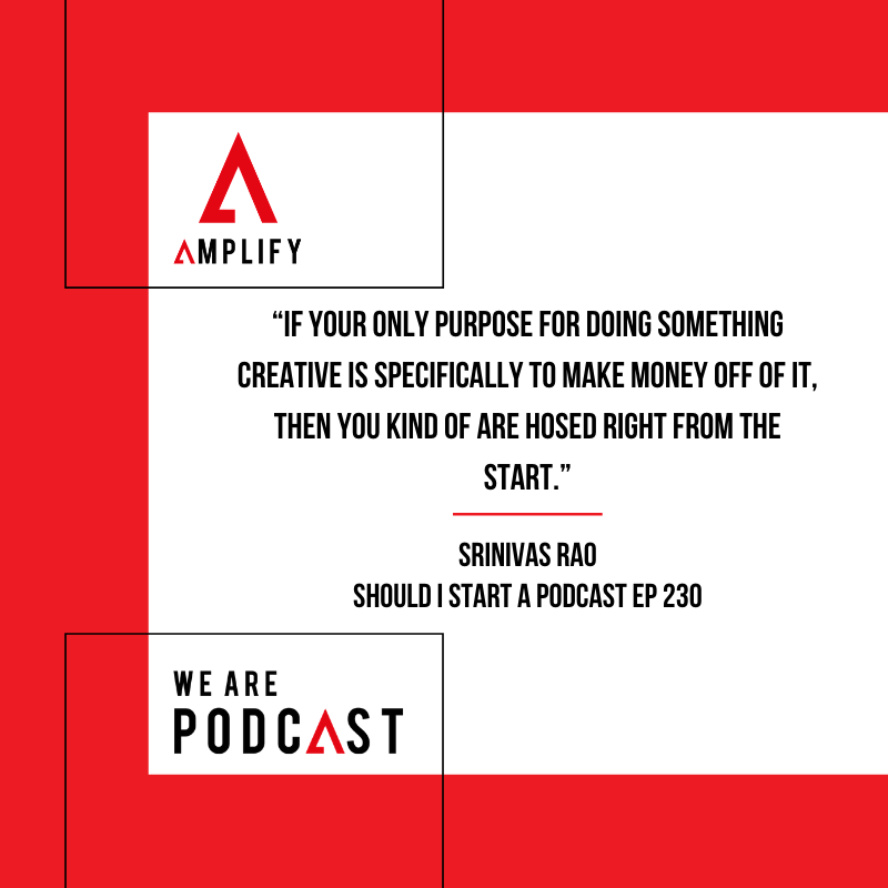 """Quote: """"If your only purpose for doing something creative is specifically to make money off of it, then you kind of are hosed right from the start."""""""